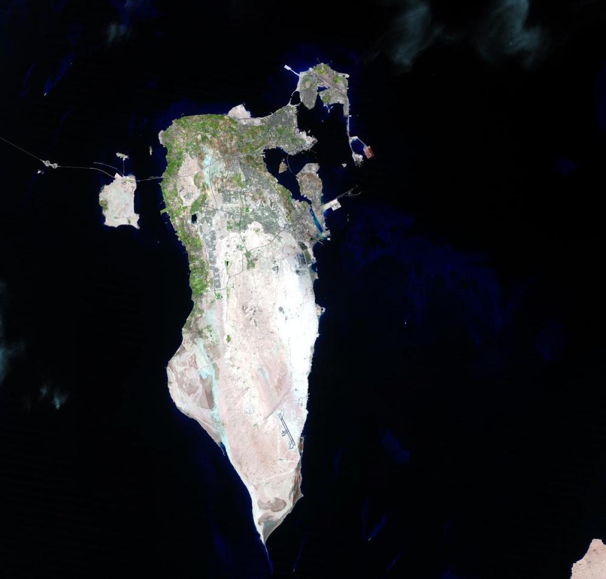 Bahrain Satelliitti Kartta Kartta Bahrain Satelliitti Lansi
